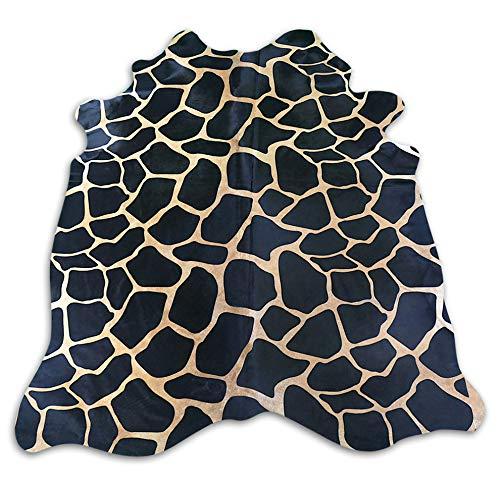 Giraffe Cowhide Rug Size: 7' X 5.7' Printed Giraffe Cowhide Rug M-570 ()