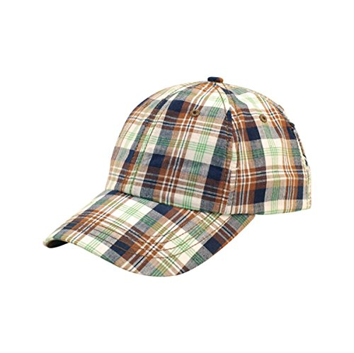 Ball Cap Plaid (Hats & Caps Shop Low Profile | (Uns) Washed Plaid Cap - By TheTargetBuys | (GREEN))