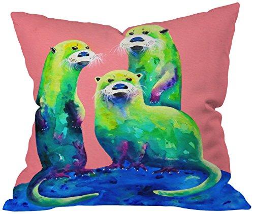 - Deny Designs Clara Nilles Margarita Otters On Fresh Melon Throw Pillow, Melon, Large/20 x 20