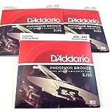 D'Addario Banjo Strings | 3 Sets | EJ55 (formerly J55) | Phosphor Bronze | Medium