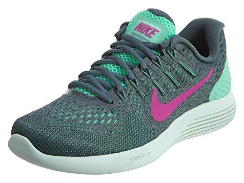 Nike Womens Lunarglide 8 Green Glow/Fire Pink Hst Cnn Running Shoe 8 Women US