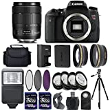 Canon EOS Rebel T6s/Digital SLR Camera + 18-135mm IS USM Lens + 2 X 32GB + 67mm Telephoto + Wide-Angle Lens + Filters + Flash + Tripod - International Version (No Warranty) (18-135mm IS USM)