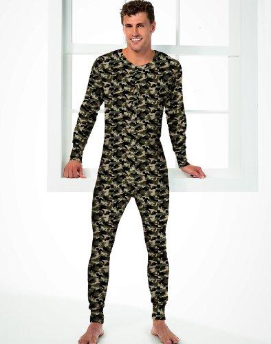 Hanes Men's Camo Thermal Union Suit, 4XL-Camo by Hanes