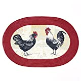 Achim Home Furnishings Braided Rug, 20-Inch by 30-Inch, Rooster