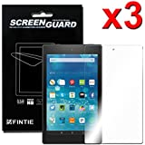 [3-Pack] Fintie Screen Protector for Amazon Fire HD 8 (8th Gen 2018 / 7th Gen 2017 / 6th Gen 2016 / 5th Gen 2015) - [Ultra-Clear] Screen Shield Protector, Retail Package