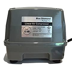 Blue Diamond ET80 Septic air pump aerator is most commonly used is 500 gpd aerobic septic systems. Enviro linear air blowers/aerators are designed for use in residential aerobic treatment units/ATU's. Other applications include pond aeration,...