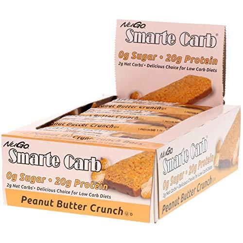 NuGo Nutrition Smarte Carb Peanut Butter Crunch Bars 12 Bars 1 76 oz 50 g Each