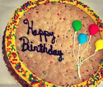 Happy Birthday Cookie Cake - Chocolate Chip (Best Birthday Cake Delivery)