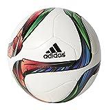 adidas Performance Conext15 Glider Soccer Ball, White/Night Flash Purple/Flash Green, Size 1