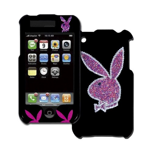 licensed-black-playboy-snap-on-for-iphone-with-big-glitter-bunny-on-the-back-outlined-in-rhinestones