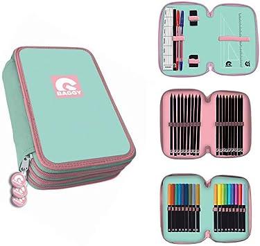 Baggy- Estuche PLUMIER Triple con Material 20X13, Color 0 (AST3018): Amazon.es: Juguetes y juegos