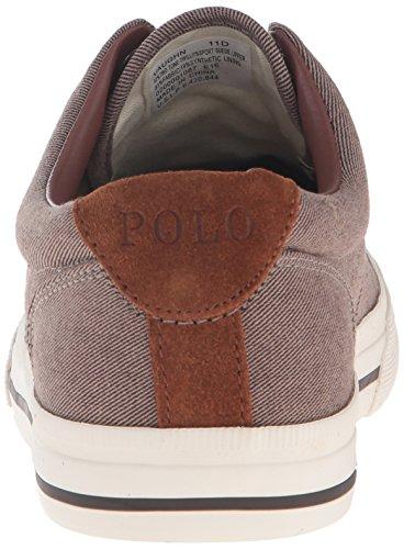 Polo Ralph Lauren Mens Vaughn Fashion Sneaker Dark Khaki