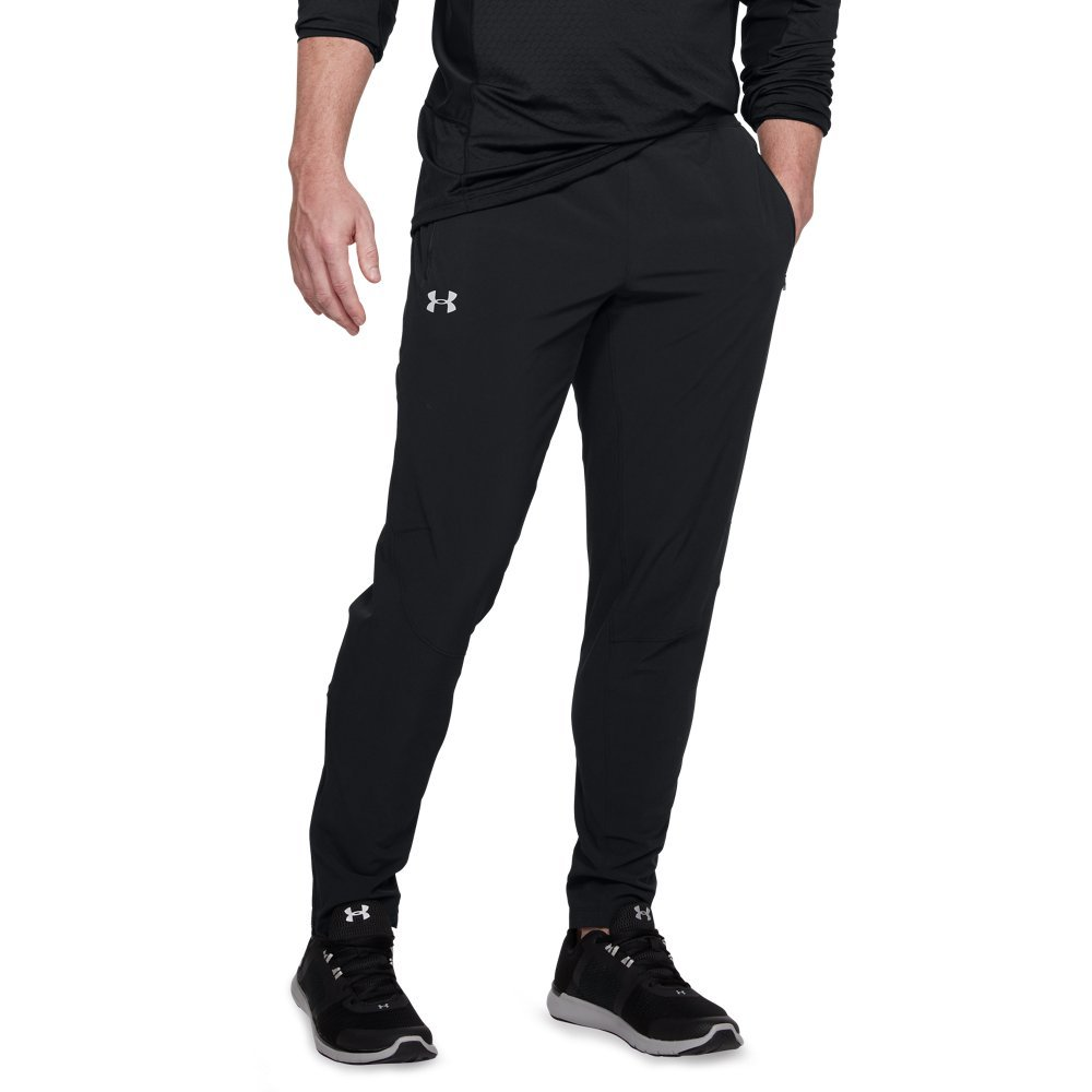 Under Armour Men's Outrun The Storm Pants, Black (001)/Reflective, Medium by Under Armour (Image #1)