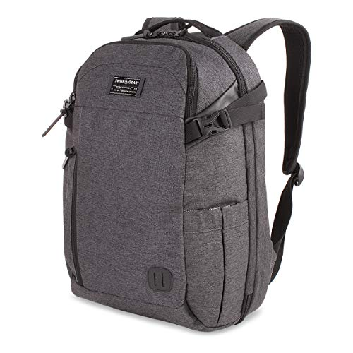 SWISSGEAR Getaway Weekend 15-inch Padded Laptop Backpack | Travel, Work, School | Men's and Women's - Heather - Backpack Small Swiss Gear
