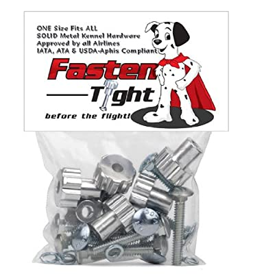 Fasten Tight Kennel Hardware - Silver 8 pack + 4 Pack (12 total) from KC Pet Products LLC