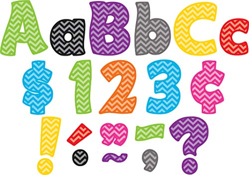 (Teacher Created Resources 5454 Chevron Funtastic 4-Inch Letters Combo)