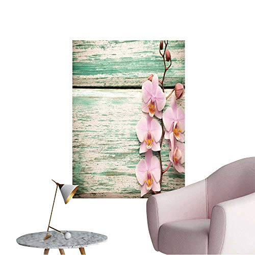 Wall Stickers for Living Room Pink Orchid on a Wooden, used for sale  Delivered anywhere in USA