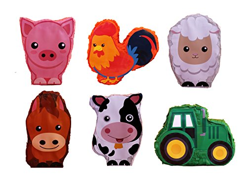 Aztec Imports, Inc. Mini Farm Pinata Asst. (6 pcs.)