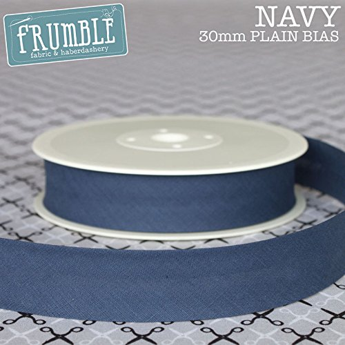 30mm Navy Plain Bias 5m Roll - 30mm Bias Binding Bias Binding Bunting Tape Sewing Trim Sewing Edging Frumble