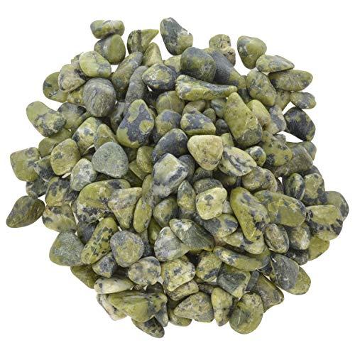 Hypnotic Gems Materials: 1 lb Nephrite Jade Tumbled Stones - Grade 1 - XXSmall - 0.25
