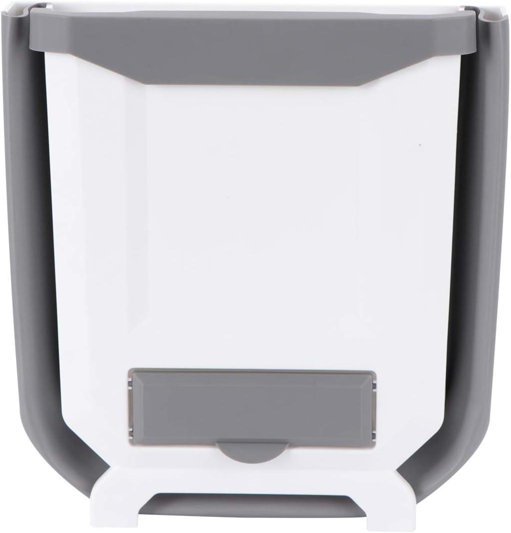 Hemoton Pequeño Cubo de Basura Colgante para La Puerta del Gabinete de La Cocina Mini Contenedores de Basura Plegables Basura Montada en La Pared para El Gabinete Cuarto de Baño del
