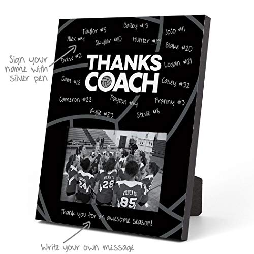 Autograph Frame Memory - ChalkTalkSPORTS Volleyball Photo Frame | Coach (Autograph) Picture Frame | Black