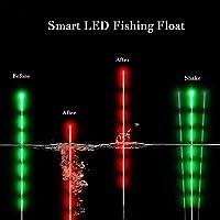 Led Smart Fishing Float Nacht Leuchtende Smart Luminous Fishing Float LED Licht Automatisch Erinnern (mit Battery)