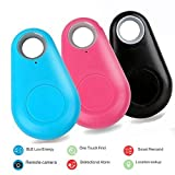 Smart Finder Locator, Wireless Bluetooth Pet Tracker, Mini Wireless Selfie Shutter Anti-lost Alarm Sensor for Pets Kids Keys Wallets (3 Piece)