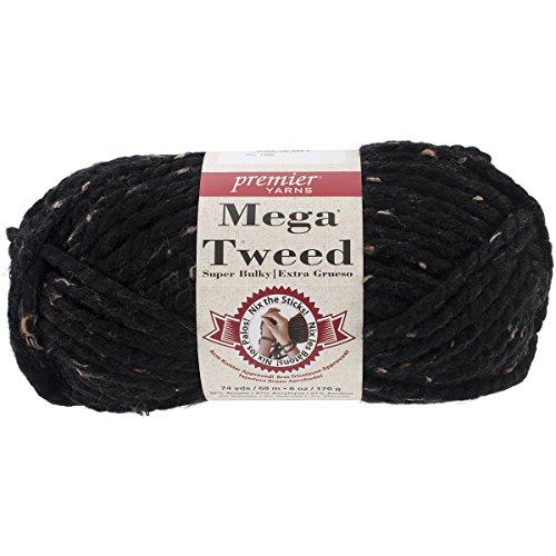 Premier Yarns Mega Tweed Yarn, Black