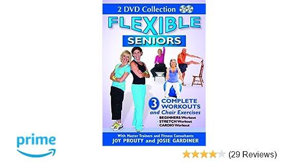 Amazon.com  Flexible Seniors - 2 DVD Set with 3 Complete Workouts ... 056b7a128