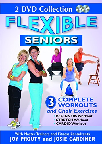 Flexible Seniors - 2 DVD Set with 3 Complete Workouts, Chair Exercises, Beginners Workout, Stretch Workout, Cardio Workout to Lose Weight, Build Muscles & Strengthen Bones (Boxing Chair Dvd)