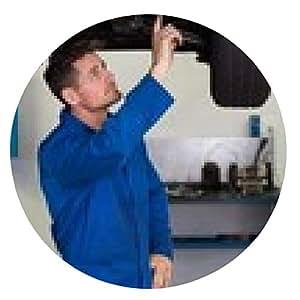 alfombrilla de ratón Mecánico que muestra al cliente el problema con el coche - ronda - 20cm