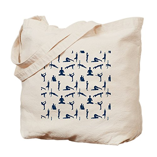 Bag Tote Positions Cloth Natural Yoga Canvas Bag CafePress Shopping 6xzI8wqTF
