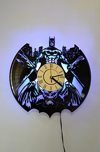 NICE STUFF ONLY Batman DC Comics Wall Light Clock - Original Home Interior Decor - Wall Clock for Boys and Girls (Blue)]()