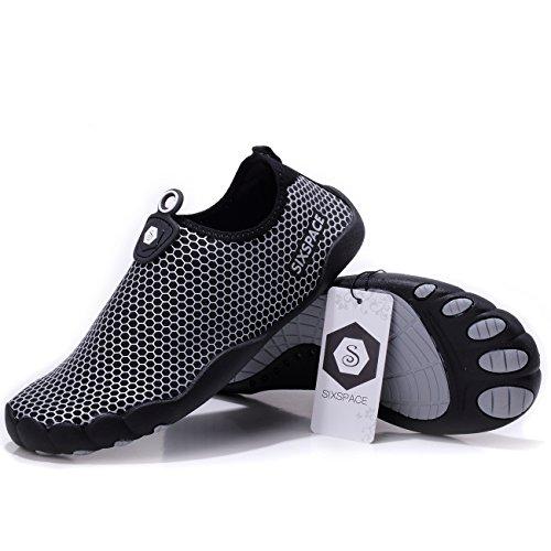Sixspace Damen Schuhe Aqua Silver 02 7Hw7vx