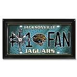 Jacksonville Jaguars NFL Football #1 Fan Team Logo License Plate made Clock