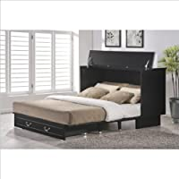Arason Enterprises Creden-ZzZ Queen Cabinet Bed in Cottage Black