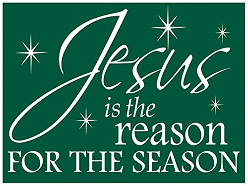 Christmas Holiday Plastic Yard Sign with Display Stand St...