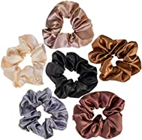 VAGA Cute Scrunchies For Hair 6 Colors Set, Our Hair Scrunchies Hair Elastics Ponytail Holder Pack of scrubchies are...