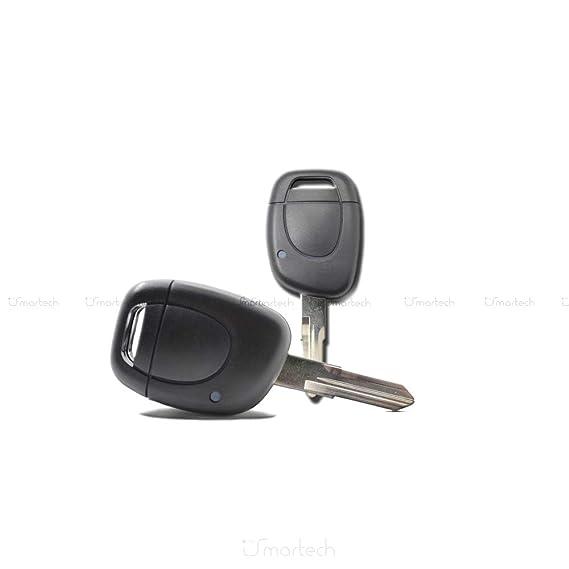 Concha cáscara llave mando a distancia 1 botón para coche RENAULT CLIO MEGANE Kangoo Twingo Espace Safrane