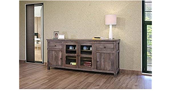 Amazoncom Crafters And Weavers Greenview Weathered Gray Tv Stand