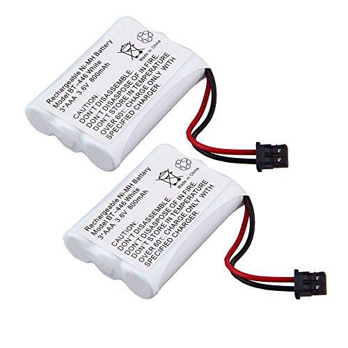 3.6V 800mAh 3AAA Ni-MH Cordless Phone Battery for Uniden BT-446 BT1005 BT-446 (Pack of 2) 3815 Cordless Phone Battery