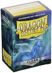 Arcane Tinman AT-11001 Dragon Shield Sleeves Matte Card Game, Clear