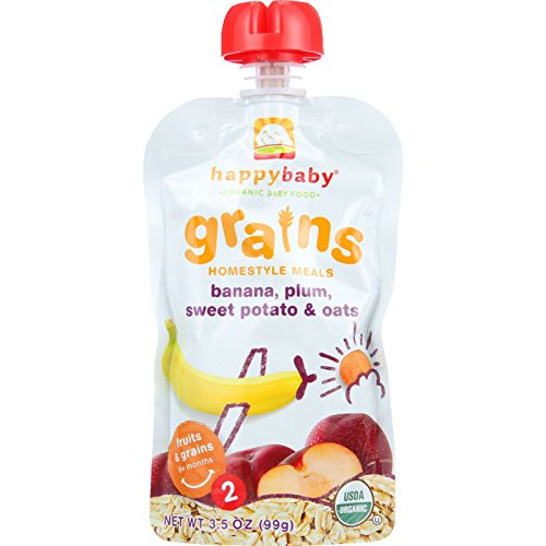 Happy Baby Baby Food - Organic - Homestyle Meals - Stage 2 - Bananas Plums Sweet Potato and Oats - 3.5 oz - case of 16 Toys Christmas Gift
