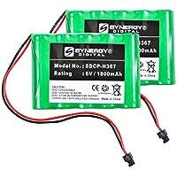 Panasonic KX-TG4500B (Backup) Cordless Phone Battery Combo-Pack includes: 2 x SDCP-H367 Batteries