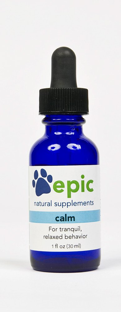 Epic Pet Health Calm - Natural Odorless Calming Sprays Made for Dogs and Cats That Promotes Calm and Relaxed Behavior. Made in USA (Dropper, 1 Ounce)