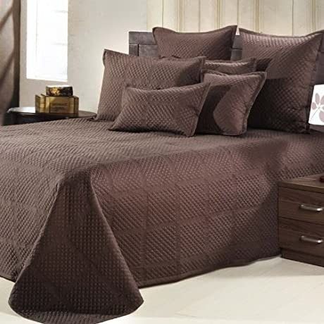 Nygard Home Crista Coverlet King Size In Chocolate Color