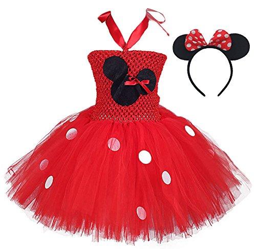 Tutu Dreams Baby Girls' Tutu Dress with Headband Set (S, Red)