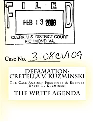 Amazon.com: DEFAMATION: Cretella v. Kuzminski: The Case ...