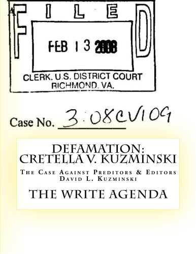 DEFAMATION: Cretella v. Kuzminski: The Case Against ...